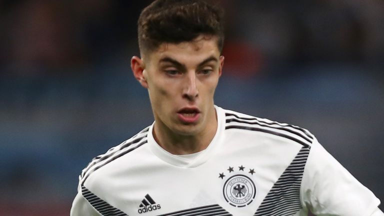 Kai Havertz playing for Germany