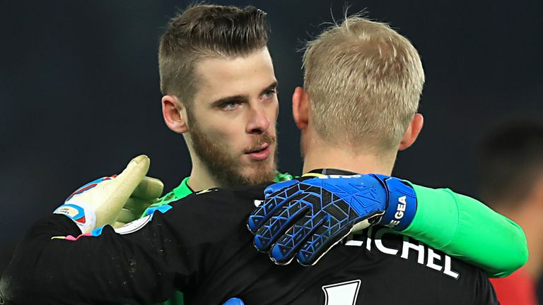Schmeichel leapt to the defence of De Gea after recent criticism