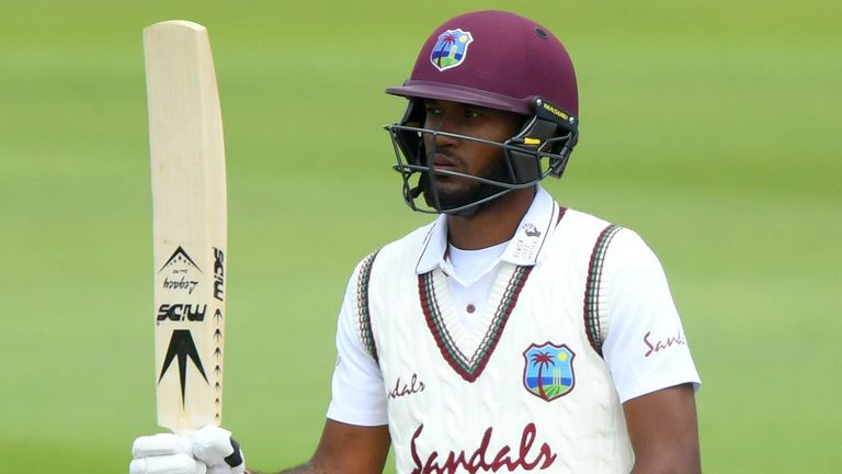 Kraigg Brathwaite made 65 in the first innings for the West Indies