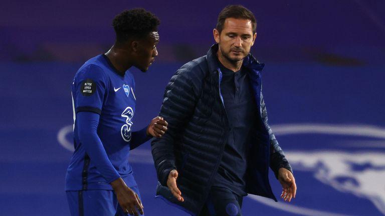 Frank Lampard has yet to start Callum Hudson-Odoi since the restart