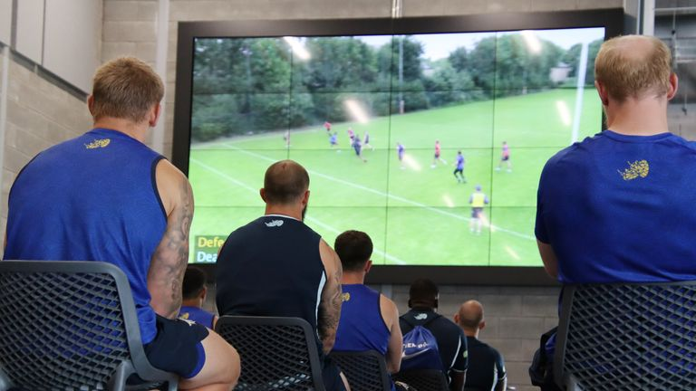 Video study was part of the lockdown training for Leeds' players