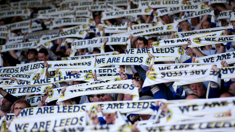LEEDS, ENGLAND - MAY 15:  of Leeds United of Derby County during the Sky Bet Championship Play-off Semi Final, second leg match between Leeds United and Derby County at Elland Road on May 15, 2019 in Leeds, England. (Photo by Alex Livesey/Getty Images)