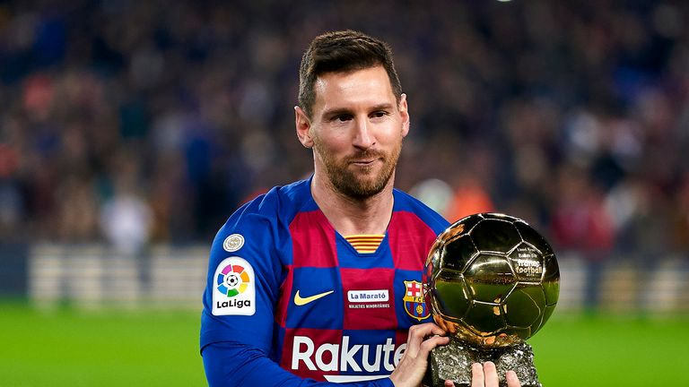 Lionel Messi won his sixth Ballon d'Or in 2019