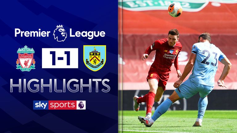 FREE TO WATCH: Highlights from the 1-1 draw between Liverpool and Burnley