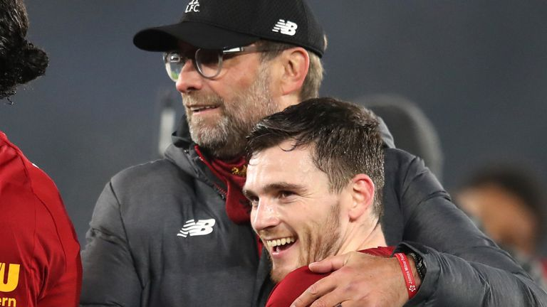 Liverpool manager Jurgen Klopp and defender Andrew Robertson have discussed how they felt after losing loved ones who supported them in their careers