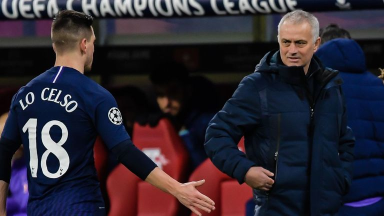 Mourinho has been impressed with both Lo Celso's quality and attitude since the Portuguese boss arrived in November last year