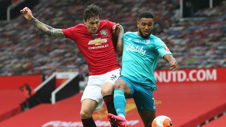 Victor Lindelof was replaced owing to a back injury