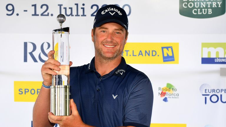 Marc Warren with the Austrian Open trophy