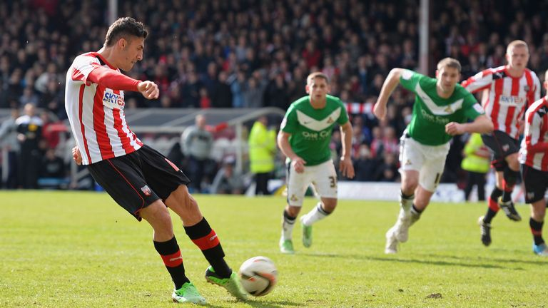 Marcello Trotta's missed penalty in a final day clash with Doncaster cost Brentford promotion to the Championship in 2013