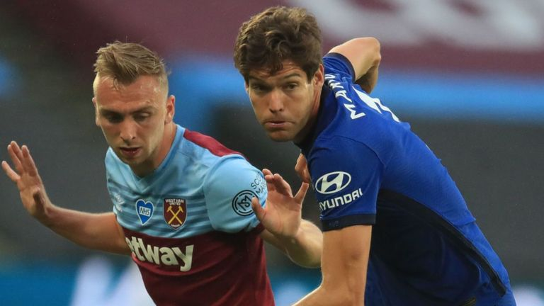Marcos Alonso was criticised for his role in West Ham's winner against Chelsea on Wednesday night