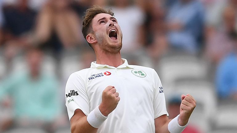 Ireland fast bowler Mark Adair impressed against England on Test debut at Lord's last year
