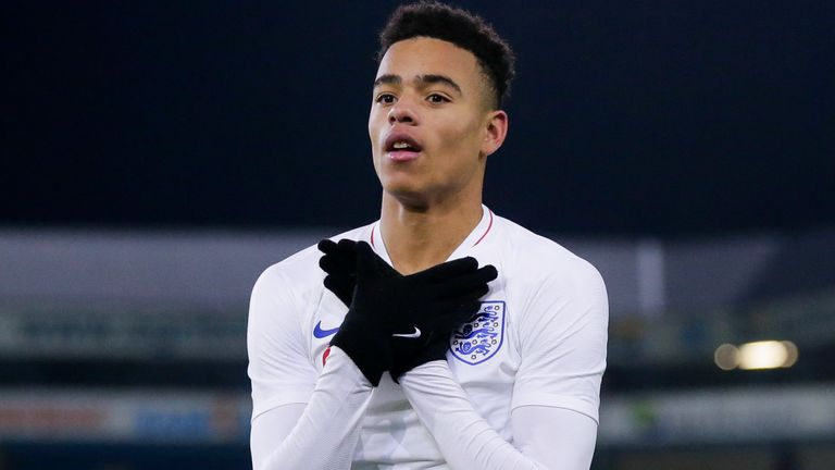 Mason Greenwood scored for England U21s last November and has now earned his first senior call-up