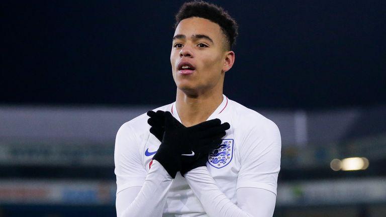 Mason Greenwood scored for England U21s against the Netherlands last November