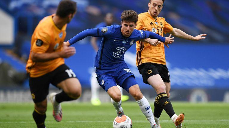 Mason Mount for Chelsea against Wolves