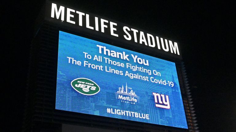 MetLife Stadium, home to the New York Giants & New York Jets, will be closed to fans in 2020
