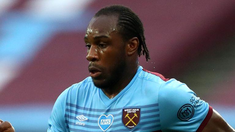 In-form Michail Antonio has scored six goals since the restart