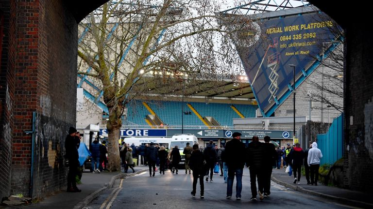Millwall v Everton - FA Cup - Fourth Round - The Den A general view from outside the ground before the FA Cup fourth round match at The Den, London. 26 January 2019