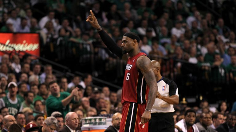 Relive an epic 45-point performance from LeBron James as the Miami Heat forced a Game 7 against the Boston Celtics in the 2012 Eastern Conference Finals.