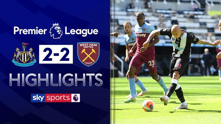 Newcastle 2-2 West Ham