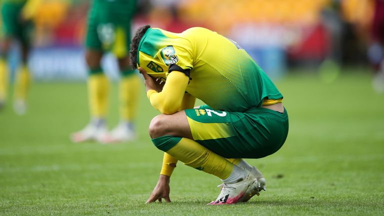 Defender Max Aarons after Norwich's relegation