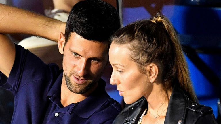 Djokovic and his wife Jelena both previously tested positive for the coronavirus