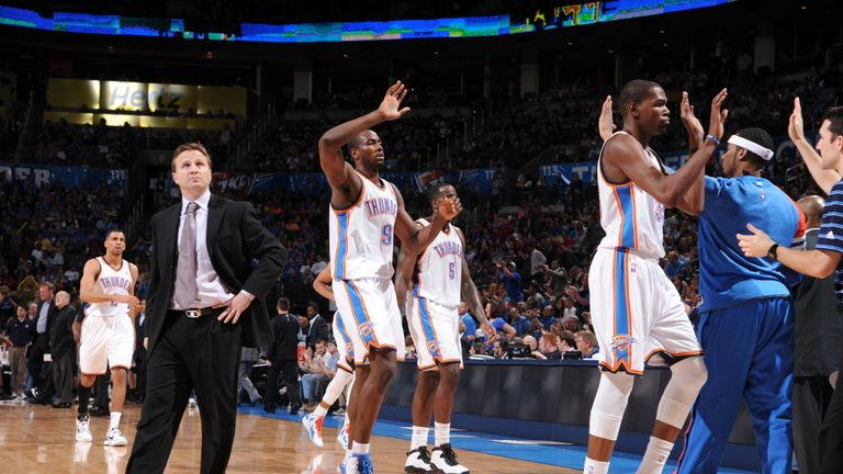 Relive an epic regular season game between Oklahoma City and Minnesota as Kevin Durant and Russell Westbrook combined for 85 points to secure a 149-140 double overtime win for OKC.