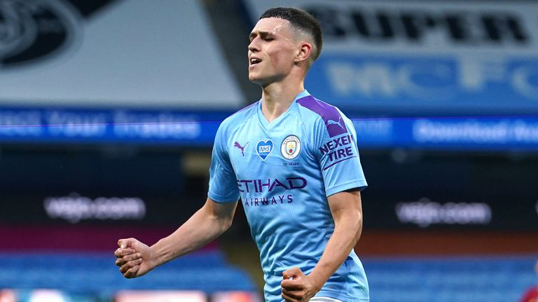 Manchester City manager Pep Guardiola has tipped Phil Foden for England