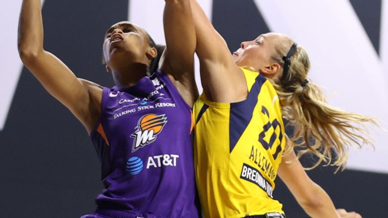 Bria Hartley of the Phoenix Mercury shoots the ball against the Indiana Fever