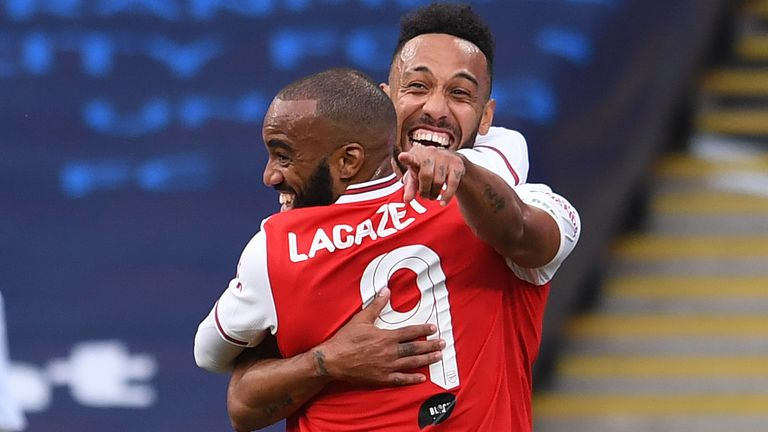 Alexandre Lacazette says his and Pierre-Emerick Aubameyang's Arsenal futures are not entwined