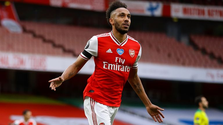 Aubameyang slotted his second and Arsenal's third