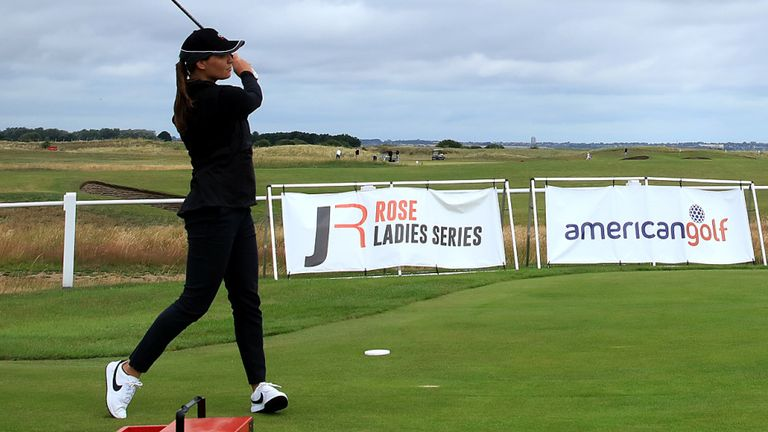 Rachel Drummond hit the first tee shot in a women's event at Royal St George's
