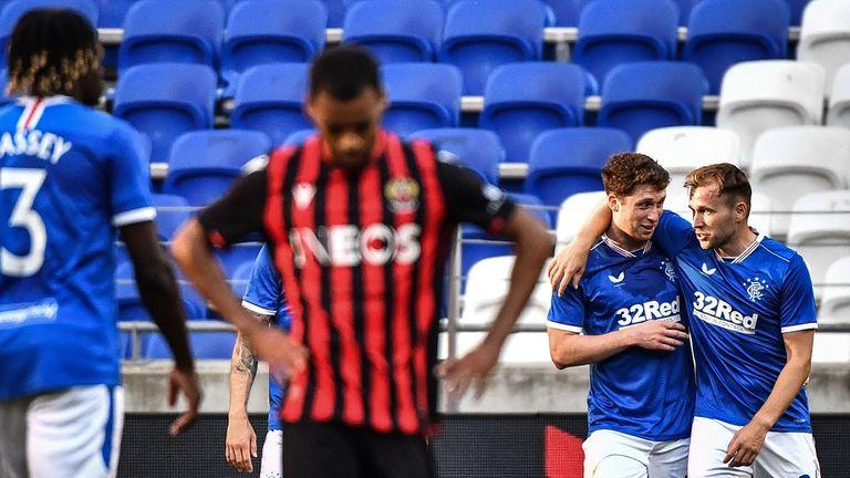 Barjonas was on target in Ranger's 2-0 win against Nice