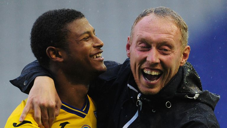 Rhian Brewster and Swansea are just outside the play-off places