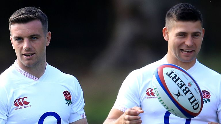 England fly-half George Ford (left) has joined Youngs in signing a new contract at Leicester