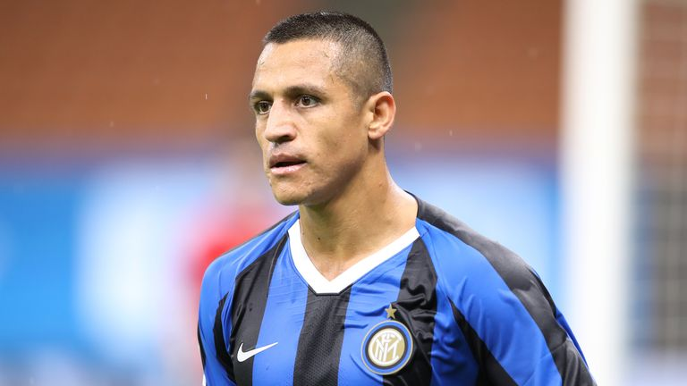 Chilean striker Alexis Sanchez of Internazionale during the Serie A match at Giuseppe Meazza, Milan. Picture date: 22nd July 2020. Picture credit should read: Jonathan Moscrop/Sportimage
