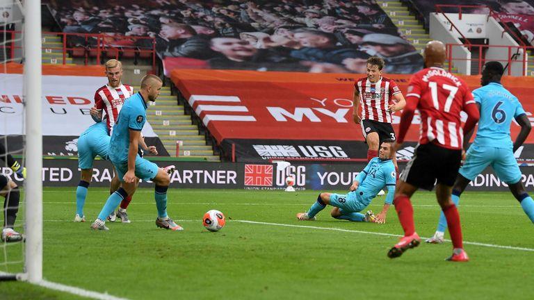Sander Berge scores against Tottenham