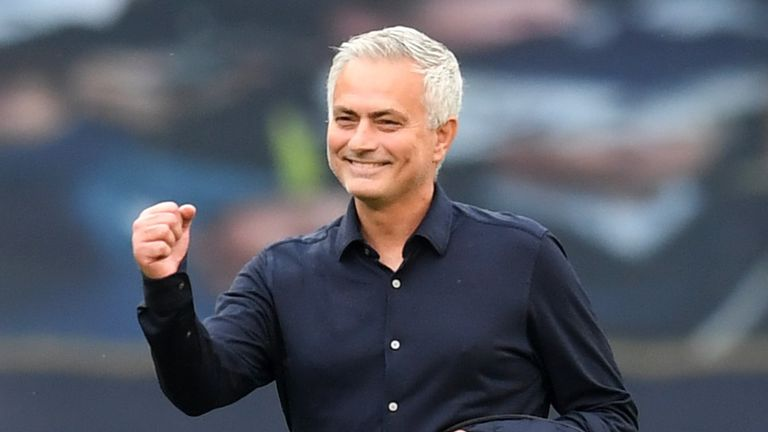 Jose Mourinho won his first north London derby in charge of Tottenham