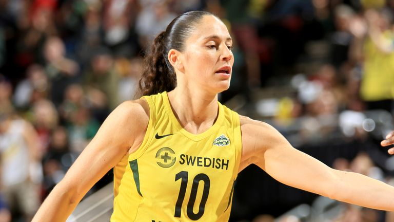 Sue Bird in action for the Seattle Storm