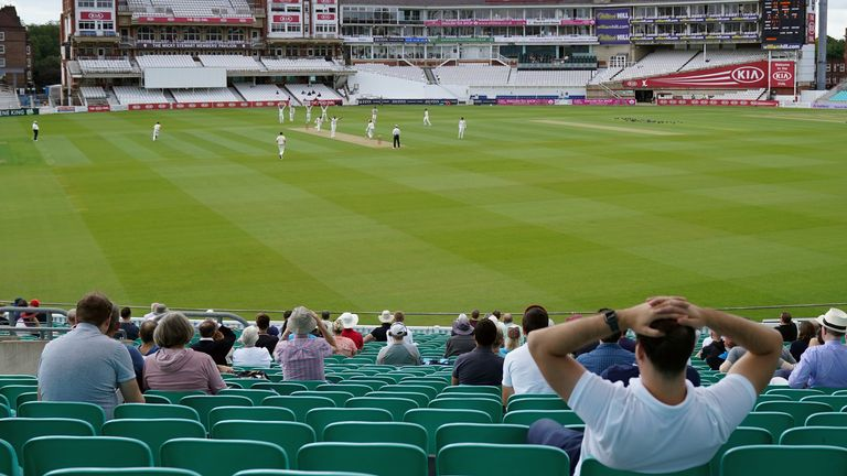 1,000 spectators have been allowed into The Oval as part of the first trial to return fans to live sport