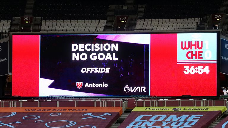 VAR rules out Antonio goal