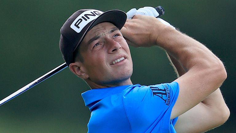 Viktor Hovland is just two behind