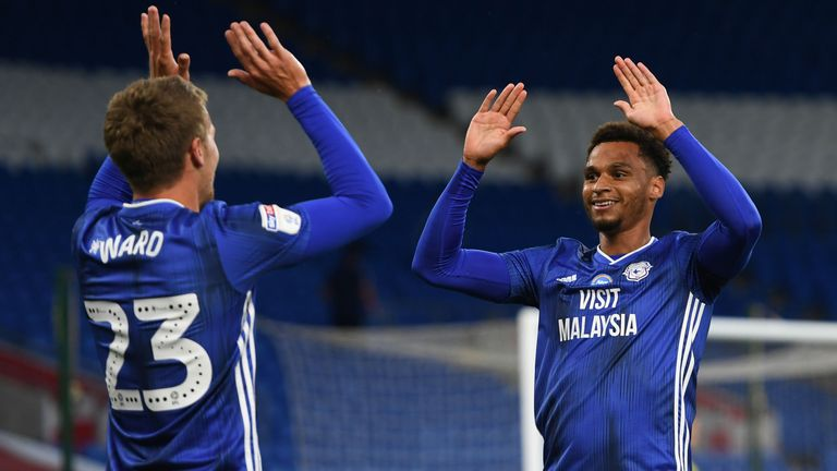 Danny Ward and Josh Murphy celebrate