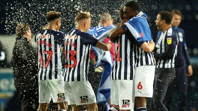 West Brom celebrate promotion to the Premier League