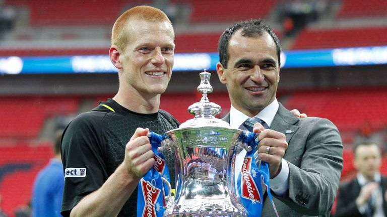 Roberto Martinez was the manager when Wigan won the FA Cup in 2013