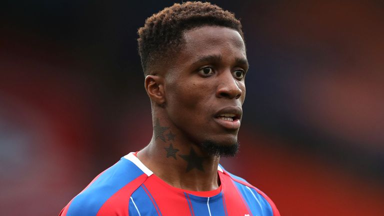 Crystal Palace winger Wilfried Zaha was also sent racist messages on social media last week