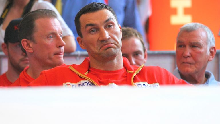 Klitschko was not amused by his opponent's pre-fight routine