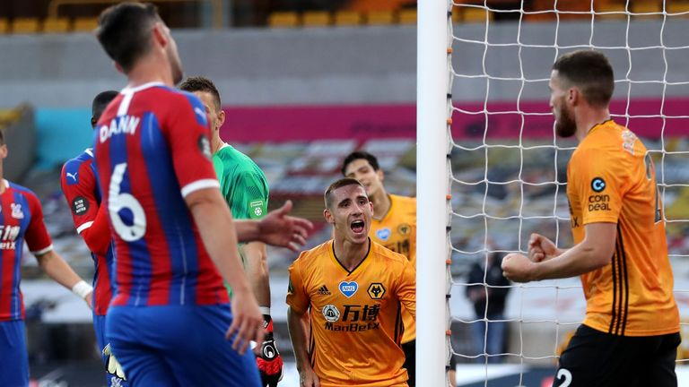 Daniel Podence scored his first goal for Wolves to put them ahead