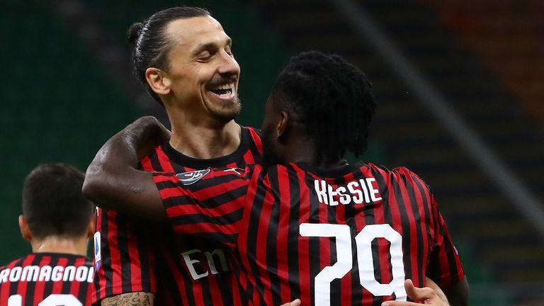 Zlatan Ibrahimovic was among the scorers for Milan