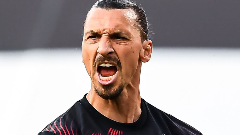 Zlatan Ibrahimovic scored twice for AC Milan on Wednesday