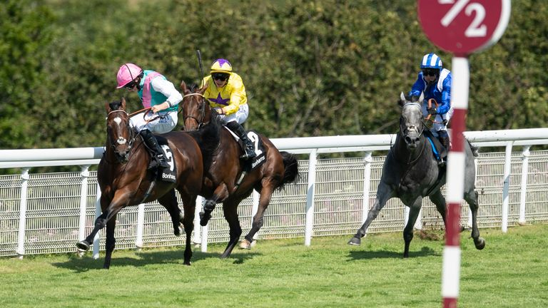 Tilsit ridden by Ryan Moore wins the Bonhams Thoroughbred Stakes during day four of the Goodwood Festival at Goodwood Racecourse, Chichester.
